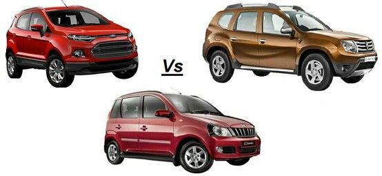 Ford Ecosport Vs Renault Duster Vs Mahindra Quanto The Trio Competitors Expert Review Renault Ford Car