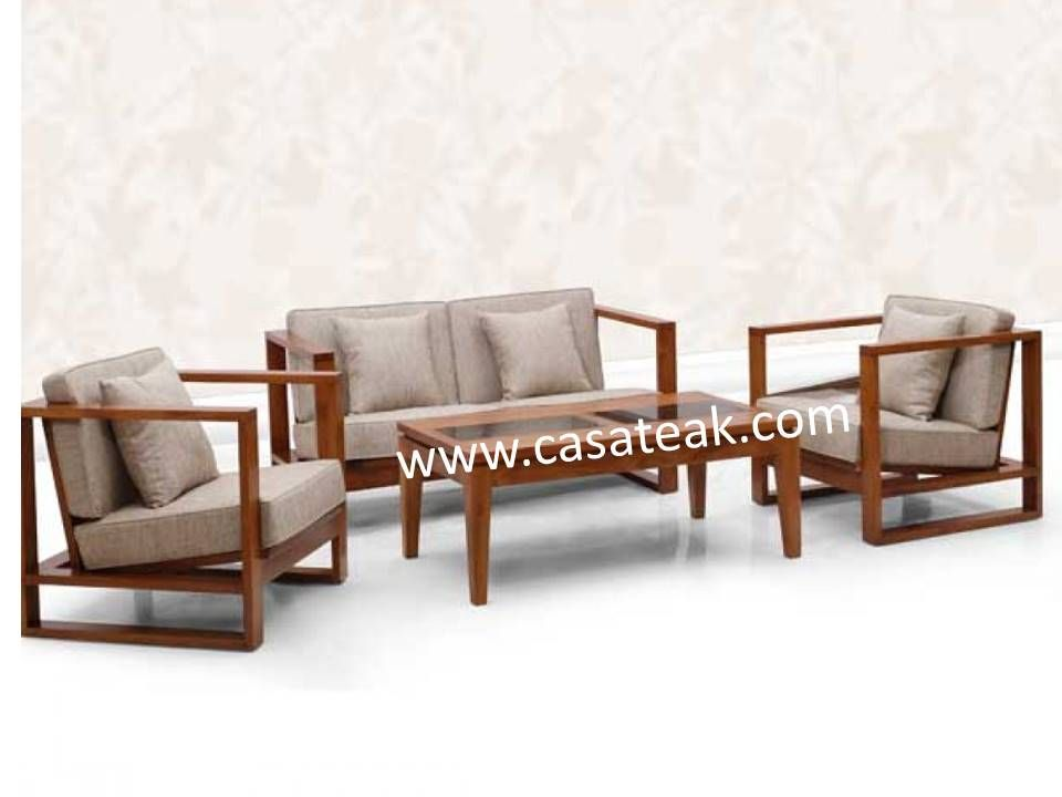 Sofa Set Wood Living Room Furniture