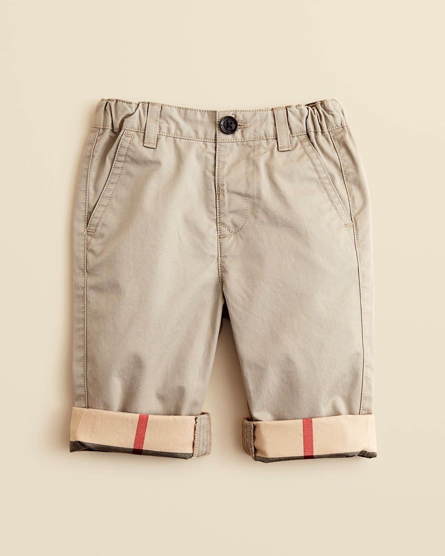 5f61909223 Burberry Infant Boys' Khaki Pants - Sizes 6-18 Months | Bloomingdale's