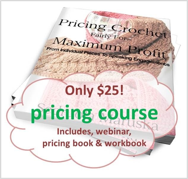 Pricing crochet course with information and formulas to help you prosper in your crochet business.