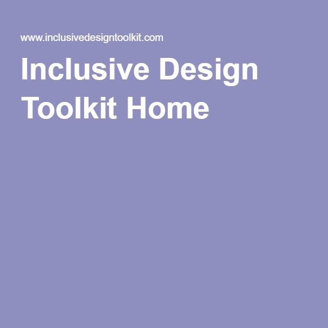 Inclusive Design Toolkit Home