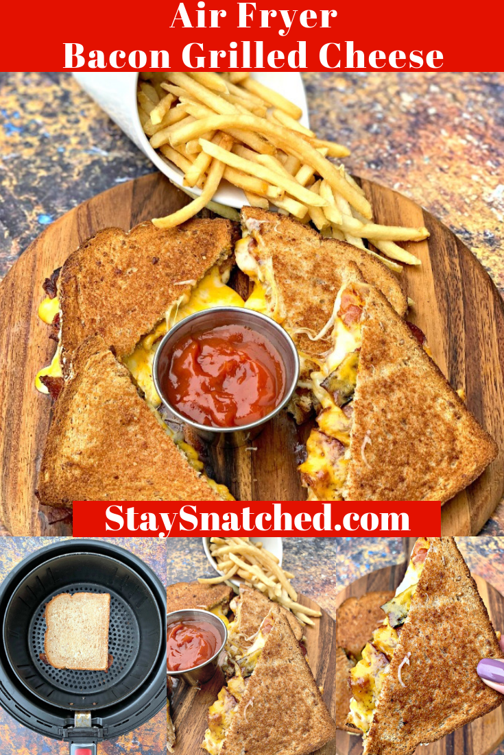 Easy Air Fryer Bacon Grilled Cheese is a quick, kid