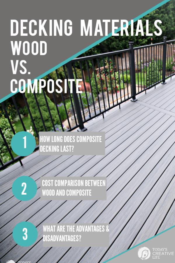 Composite Decking Vs Wood Deck Remodel Composite Decking Decking Material