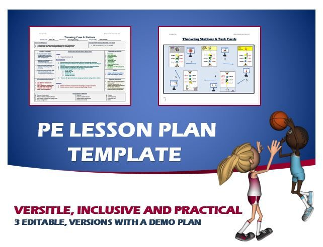 Physical Education Lesson Plan Template  Pe Lesson Plan Resources