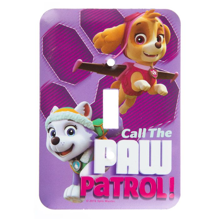 Purple Call the Paw Patrol Light Switch Plate⎜Open Road Brands ...