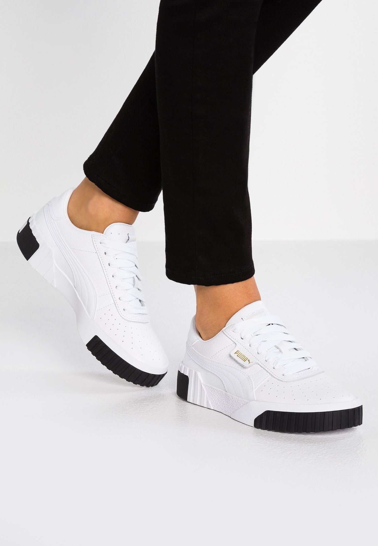 puma cali trainers puma white black