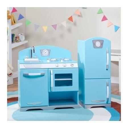Kidkraft 2 Piece Blue Retro Play Kitchen