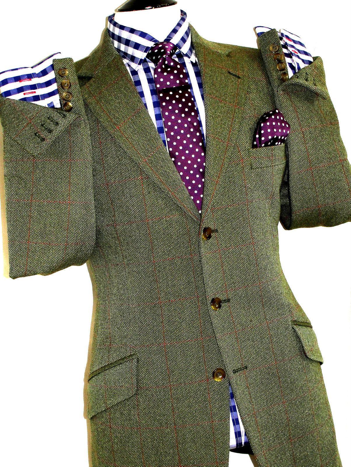 Hackett London Green Tartan Over Camisa para Hombre