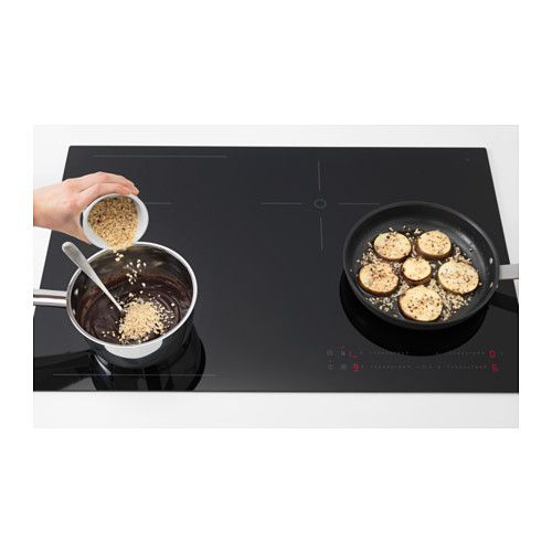 la meilleure attitude f171a 3f8fb HÖGKLASSIG Induction hob with flexible zones - black | IKEA ...