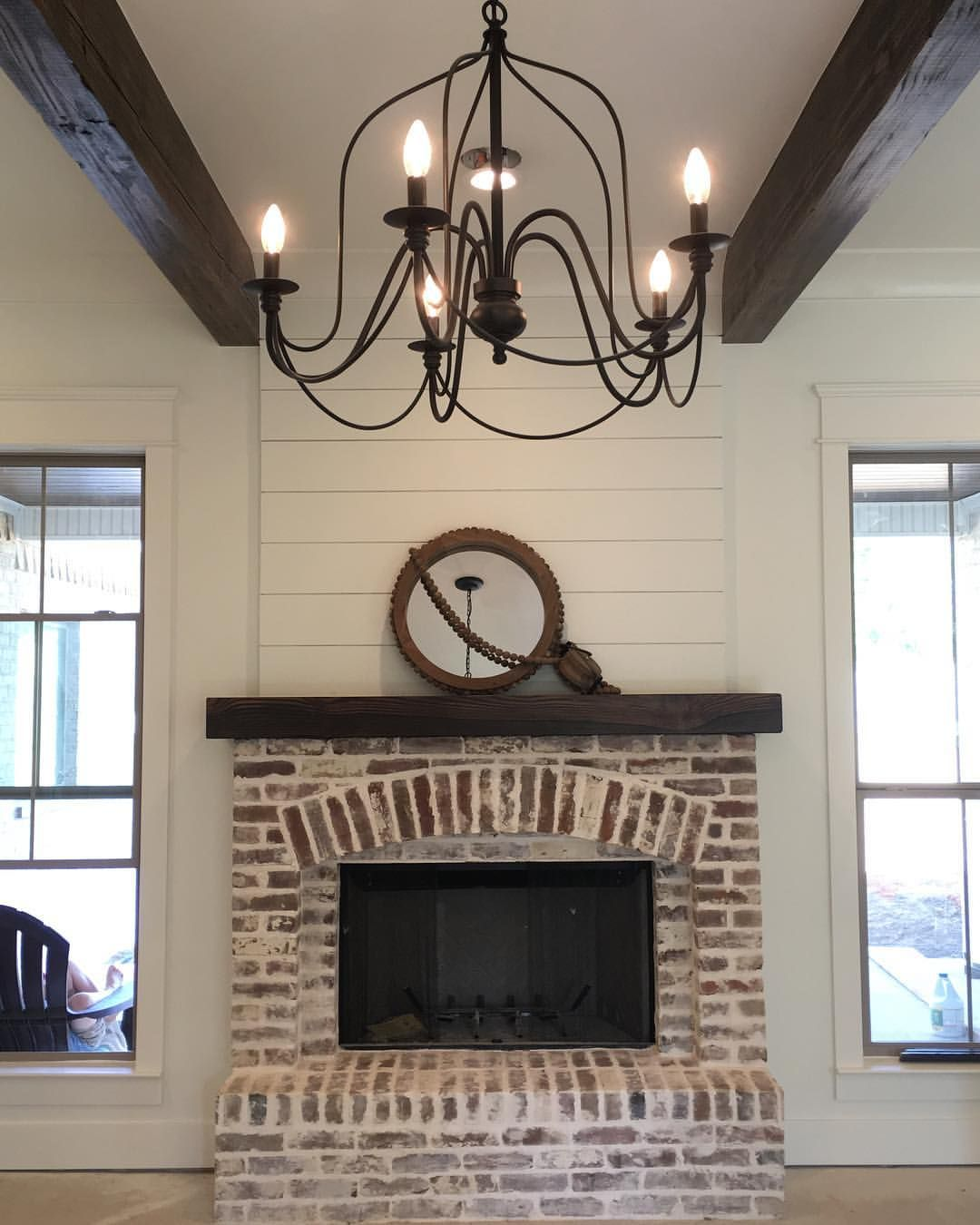 image result for shiplap fireplace living room pinterest