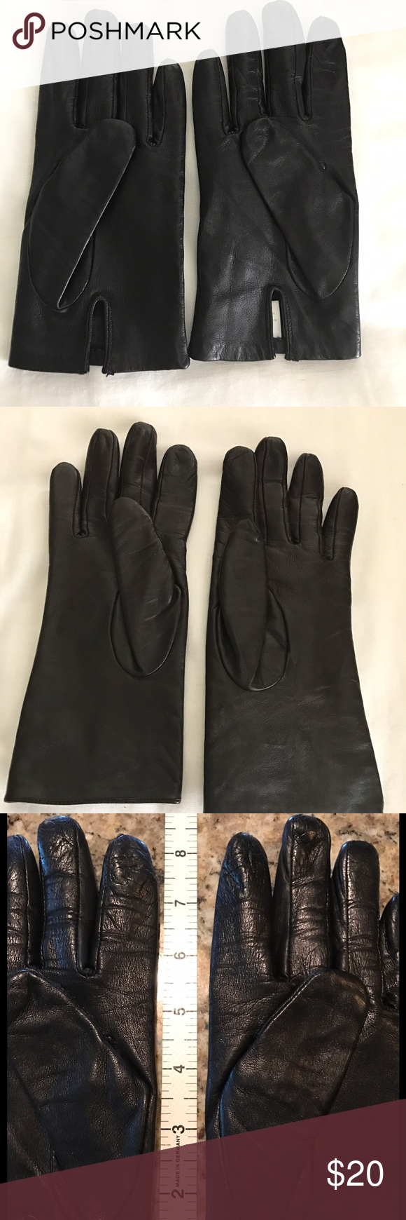 Ladies leather gloves with silk lining - Ladies Leather Gloves Black Ladies Genuine Leather Gloves 100 Silk Lining Made In Hungary A