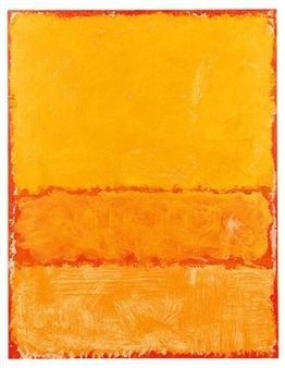 oil on paper mounted on canvas By Mark Rothko ,1969