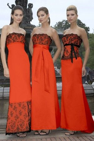 Fall Burnt Orange Mother of the Bride Dresses
