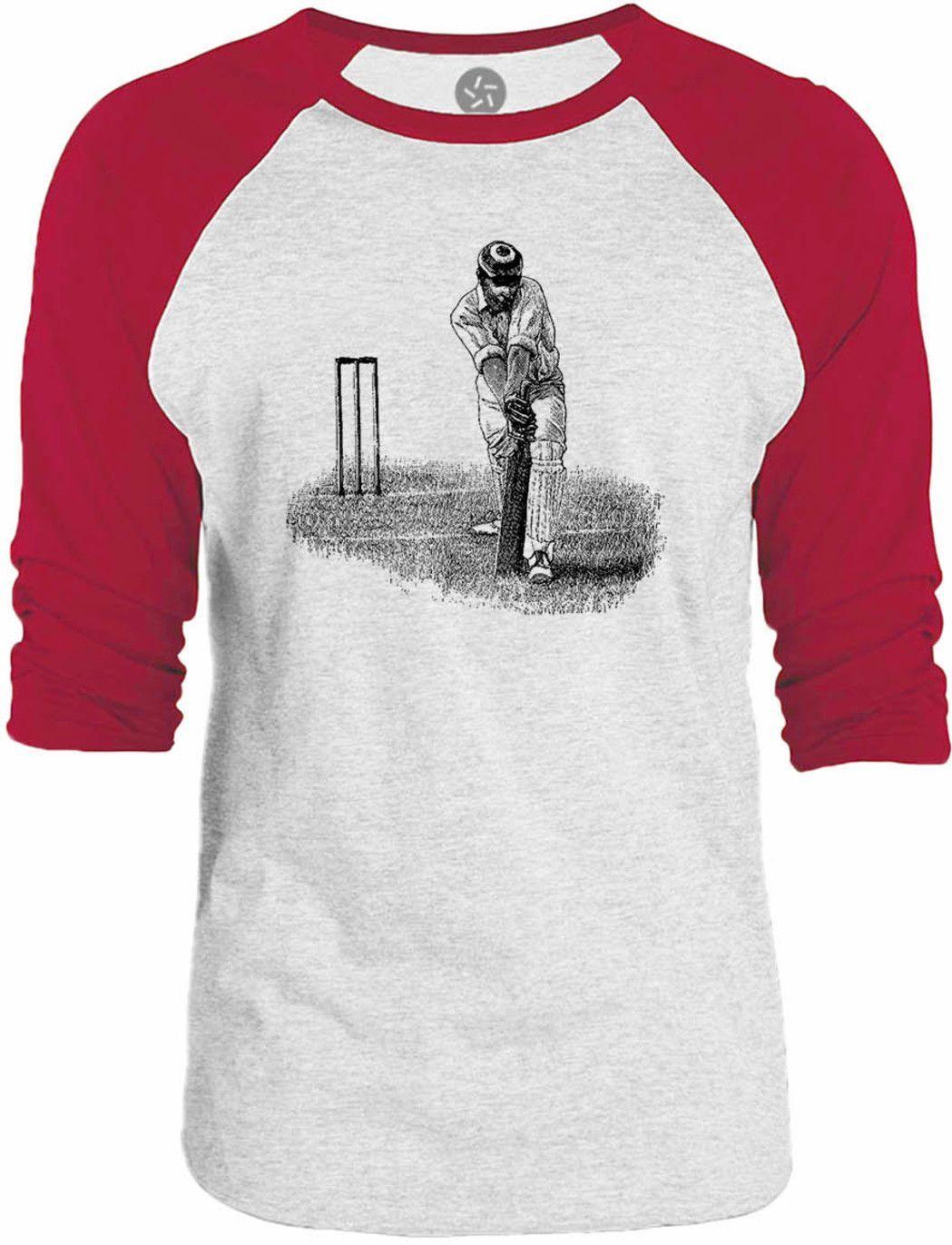 Big Texas Cricket Shot 3/4-Sleeve Raglan Baseball T-Shirt