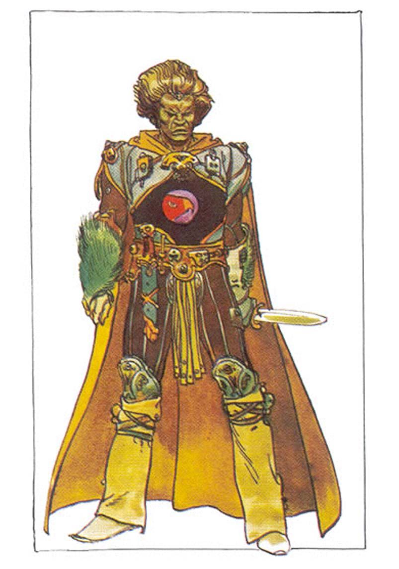 "Duke Leto Atreides by Jean Giraud (Moebius) - 1974, director Alejandro Jodorowsky attempted to create a big-screen adaptation of Frank Herbert's science fiction novel ""Dune,"" for which he cast David Carradine in the role of Leto. #Moebius created incredible concept sketches and storyboards, for the whole screenplay of the film, at that time."
