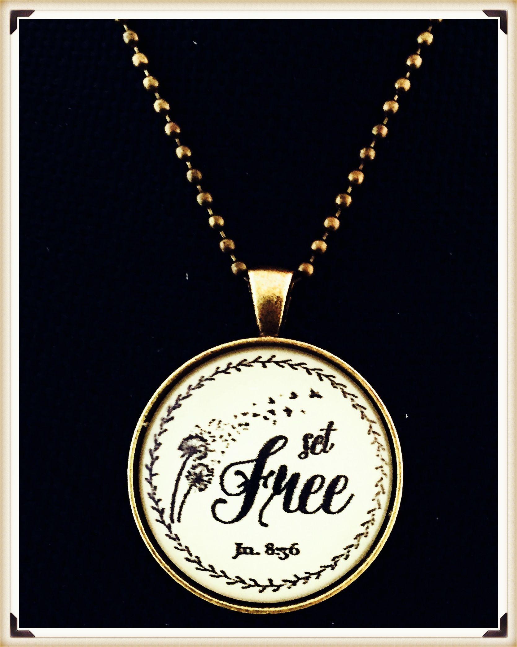 Spiritual jewelry christian pendants set free necklace timeless christian pendants set free necklace aloadofball Image collections