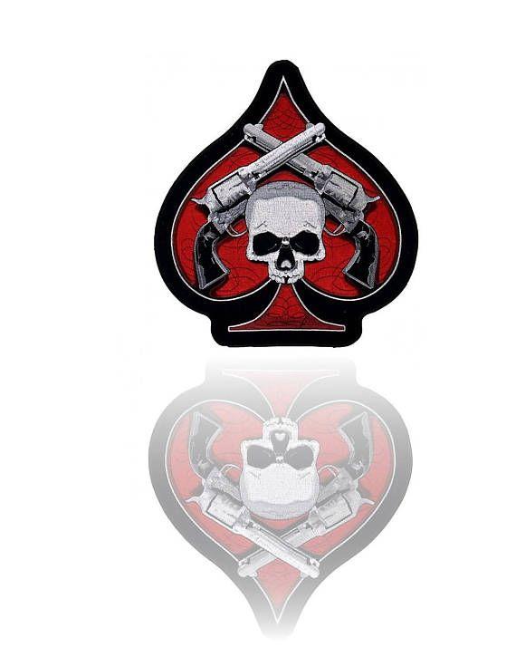 Ace Of Spade Guns Skull Premium Stick Hochwertige Dekoration