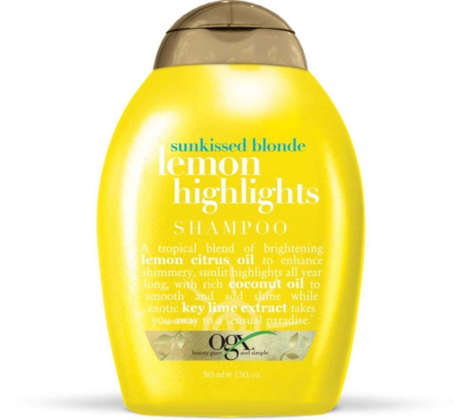 Sunkissed Blonde Lemon Highlights Shampoo With Images Lemon