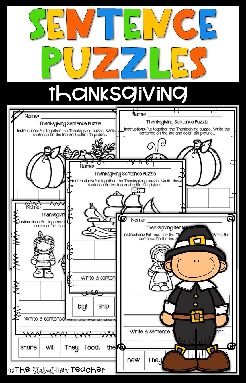 Your Students Will Be So Engaged During Their Writing Practice With These Thanksgiving Themed Sent Thanksgiving Sentences Sentence Building Teaching Homeschool