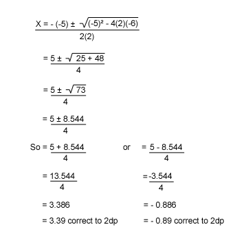 Grade 9 10 Algebra Solving And Using Quadratic Equations Home