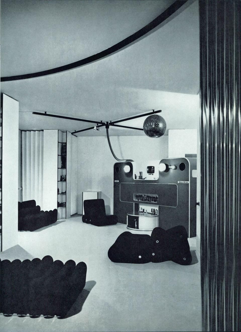 Nella casa di Joe Colombo, a Milano (Domus 494/gennaio 1971) | Joe ...
