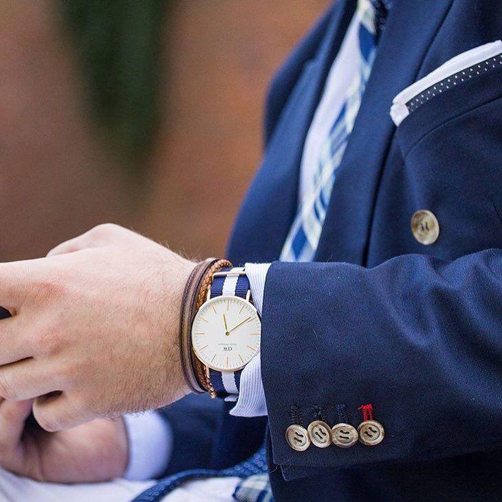 Do you dress it up or dress it down? (Photo via @bubibubi_ties) #danielwellington