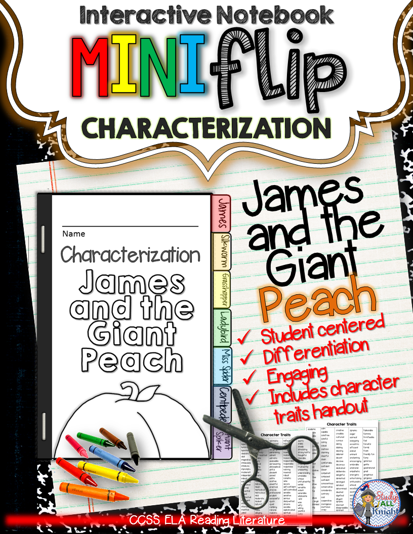 Uncategorized James And The Giant Peach Worksheets james and the giant peach interactive notebook characterization mini flip