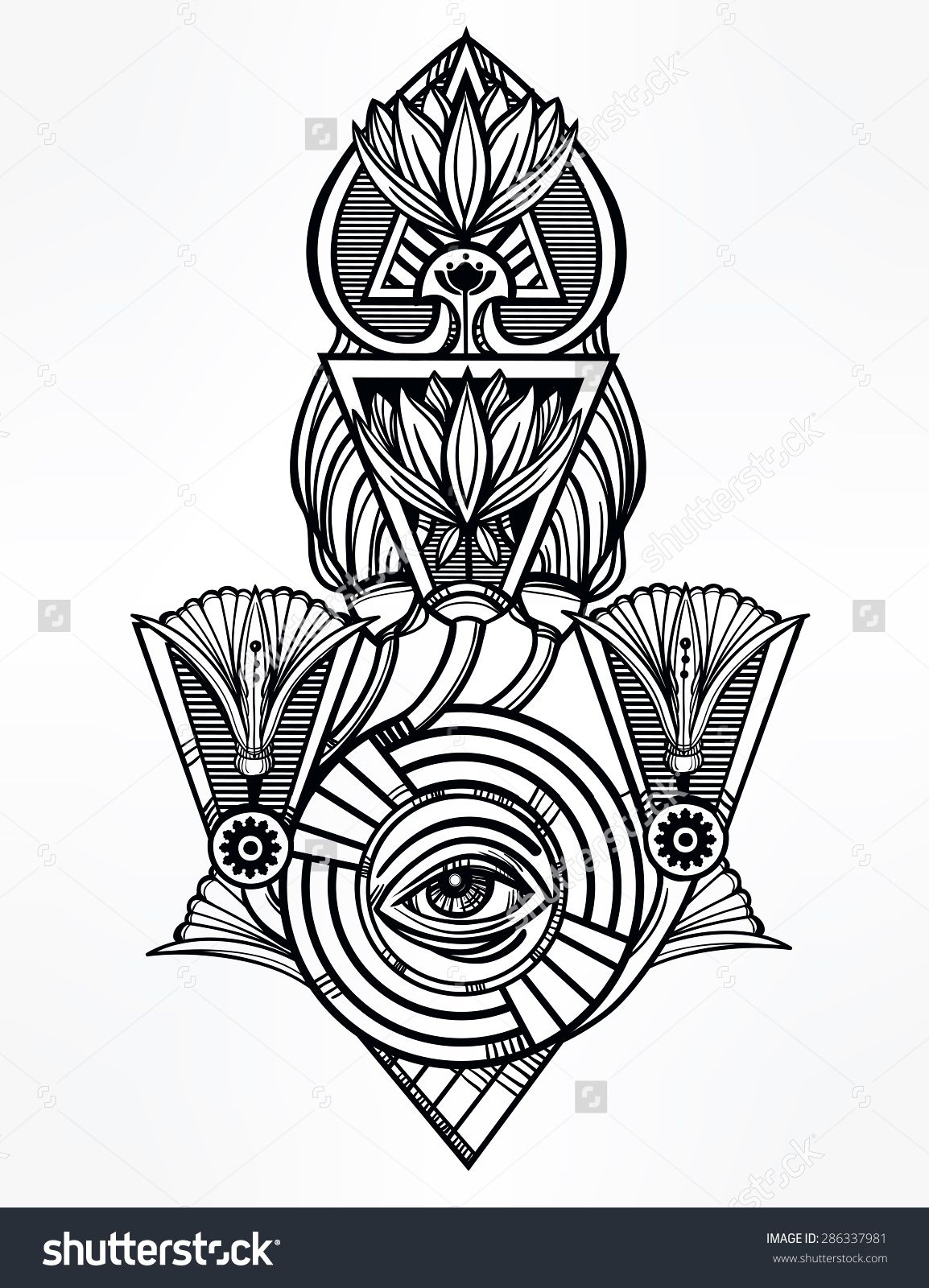 Hand Drawn Vintage Tattoo Art Vector Illustration Isolated Symbol