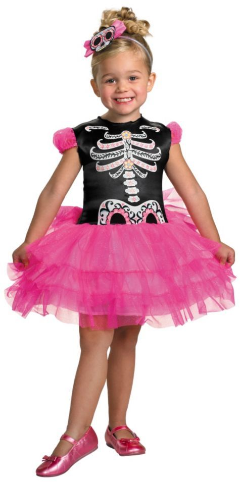 14d1fafc7 Toddler Girls Skullerina Ballerina Costume - Party City