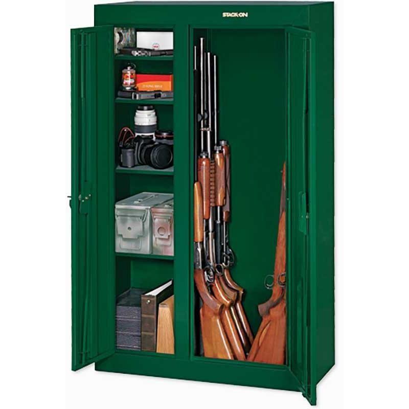 Stack On Security 10 Gun Double Door Cabinet