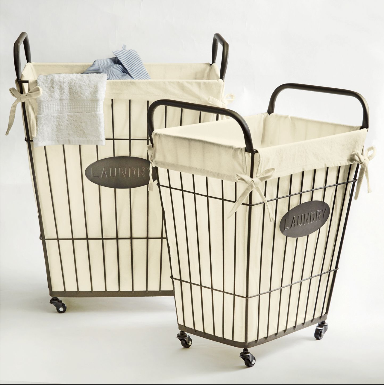 10 Bathroom Organization Ideas Wire Laundry Basket Large