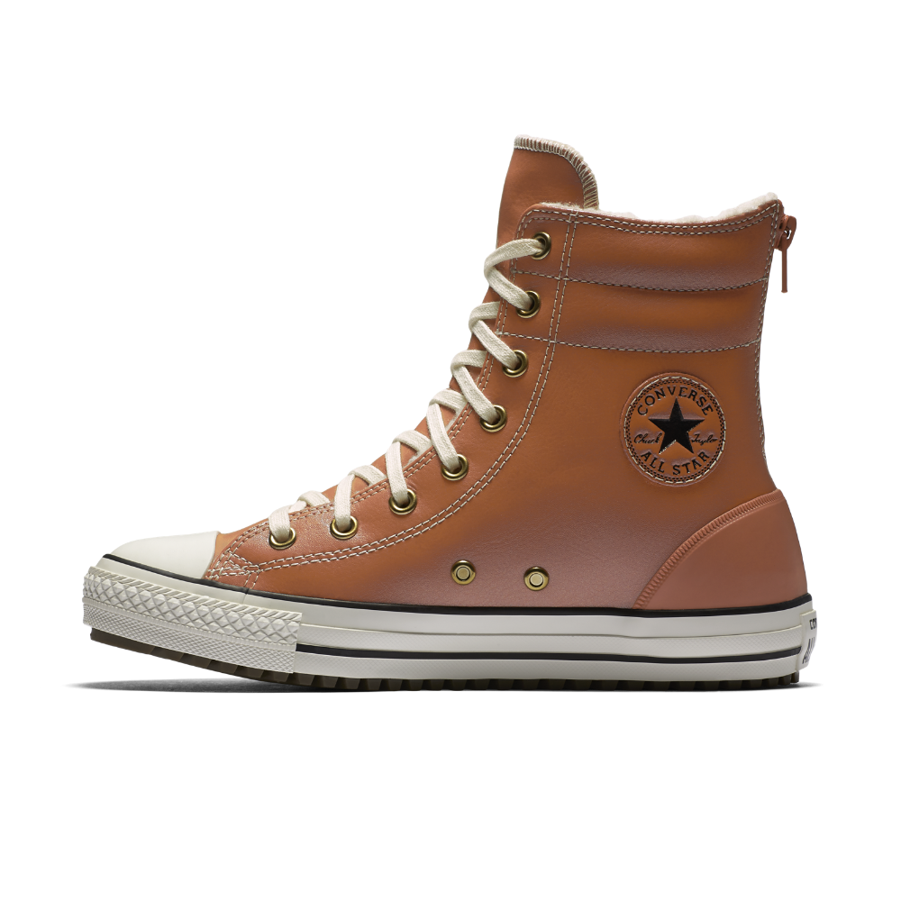 2e076b84602c Converse Chuck Taylor All Star Leather and Faux Shearling High Rise Little Big  Kids  Boot Size 3Y (Brown) - Clearance Sale
