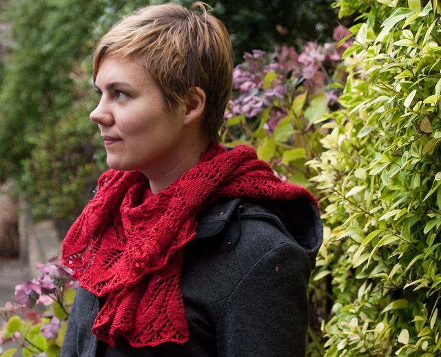 Orchid Thief by Ysolda Teague | malabrigo Sock in ravelry Red