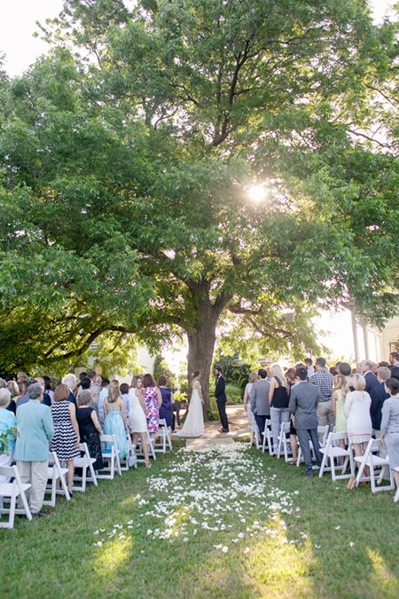 Barr Mansion Wedding | Nichols Photographers | Outdoor Ceremony