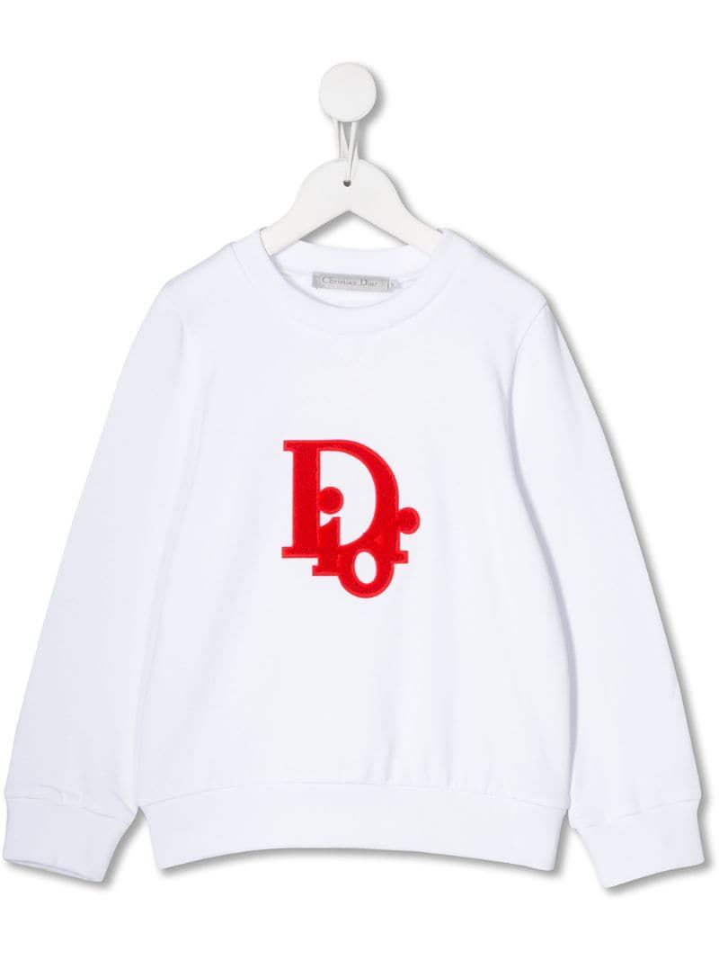 Baby Dior Embroidered Logo Sweatshirt White Baby Dior Sweatshirts Dior Kids [ 1067 x 800 Pixel ]