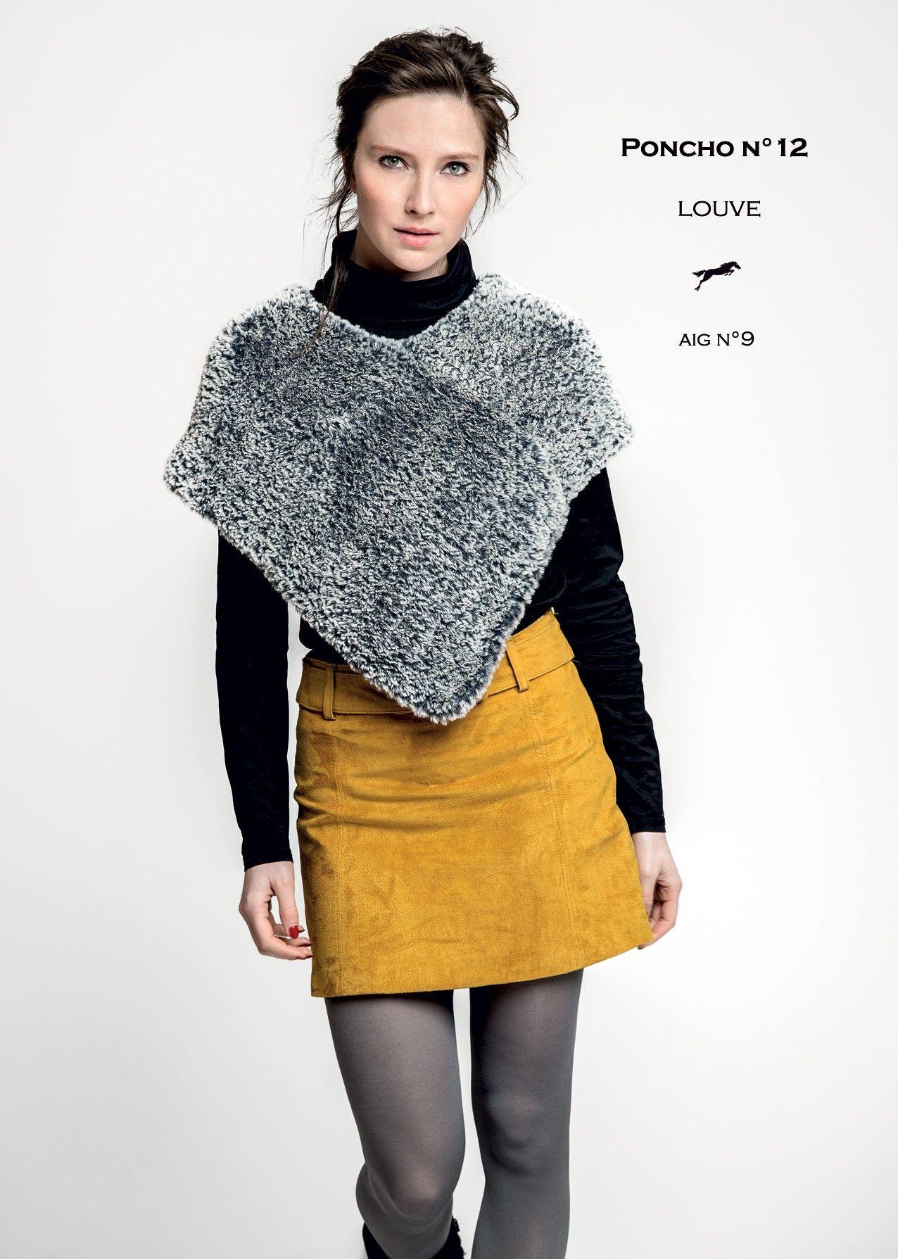 Modèle Poncho CB30 - 12 - Patron tricot gratuit | Poncho laine, Patron tricot et Tricot