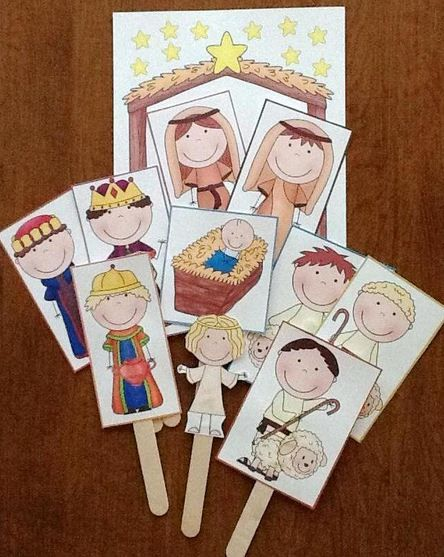 I found these adorable printable puppets for the Nativity.  Perfect for little ones learning about the story of Jesus.