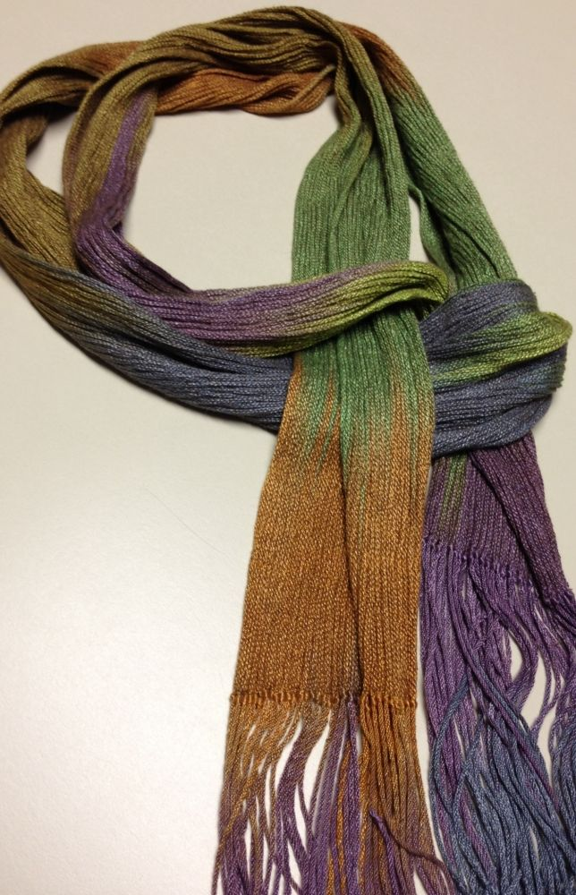 Collapse scarf, must also be dip dyed