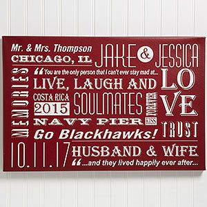 """Our+Life+Together+Personalized+Canvas+Art+Print-+24""""+x+36"""""""