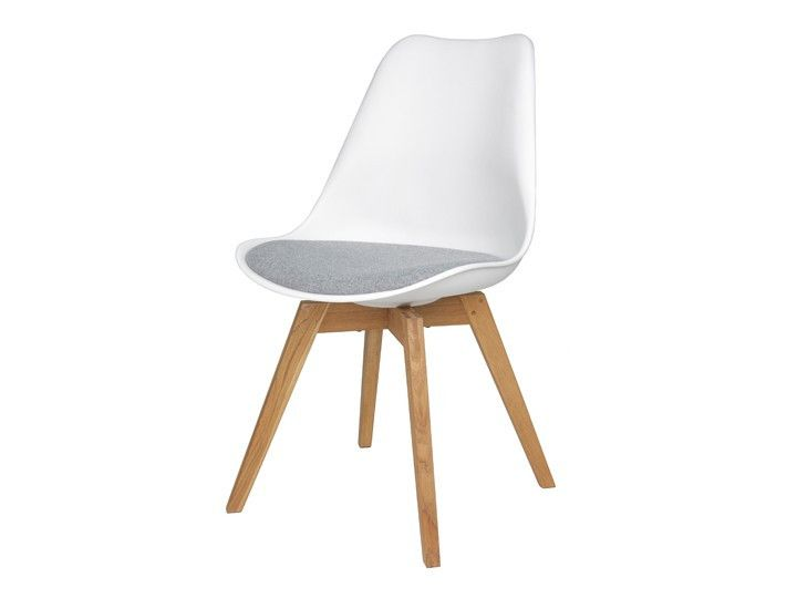 Stühle weiß grau  BASIL Esszimmerstuhl Besucher Stuhl Livingruhm | Weiß-Grau & Eiche ...