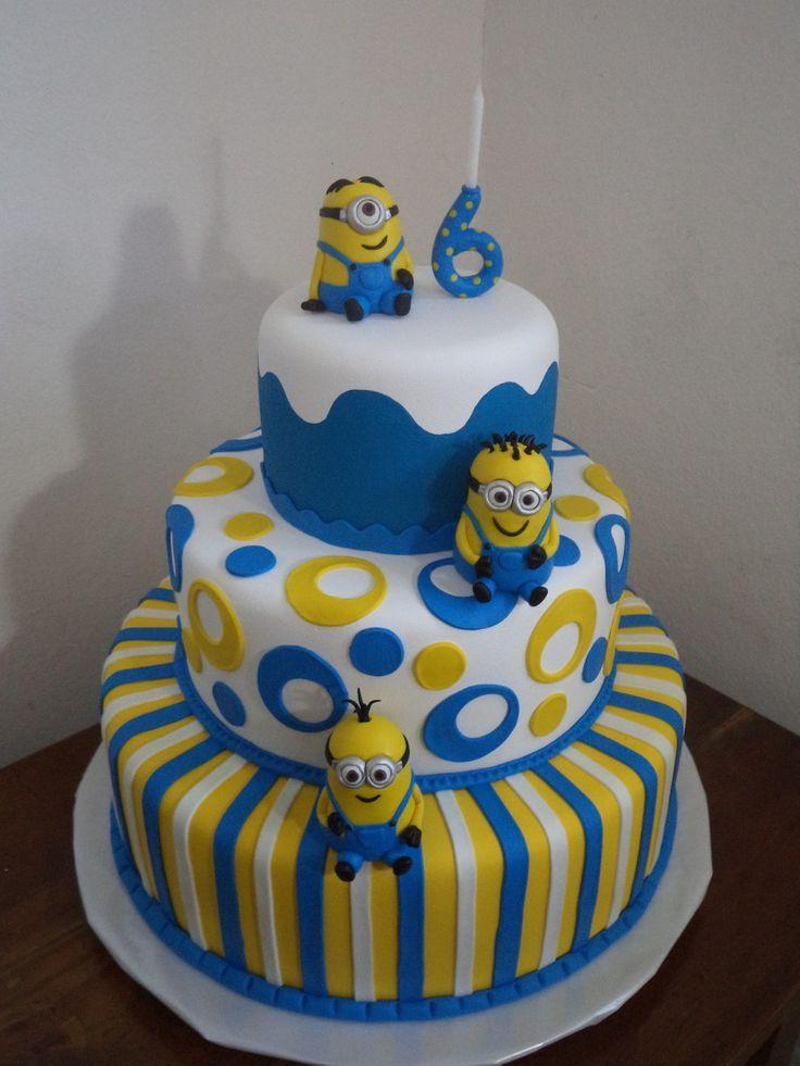 Super BOLO FAKE MINIONS ***venda | Cake, Birthdays and Minion cakes NC71