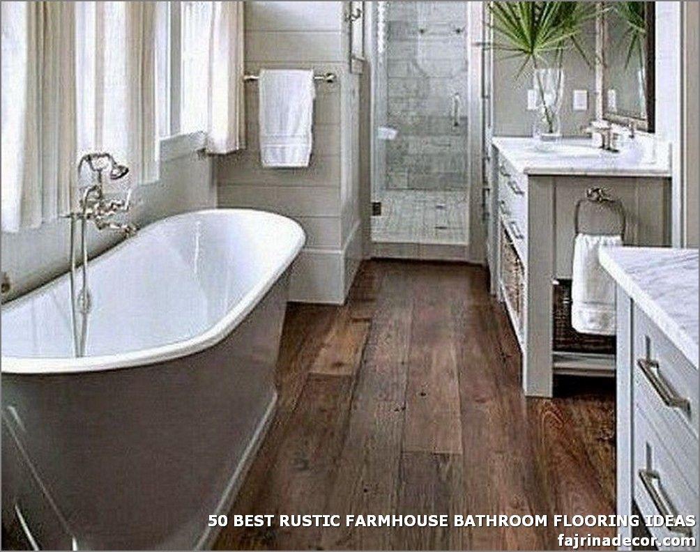 50 BEST RUSTIC FARMHOUSE BATHROOM FLOORING IDEAS - The ... on Rustic Farmhouse Bathroom Tile  id=50265