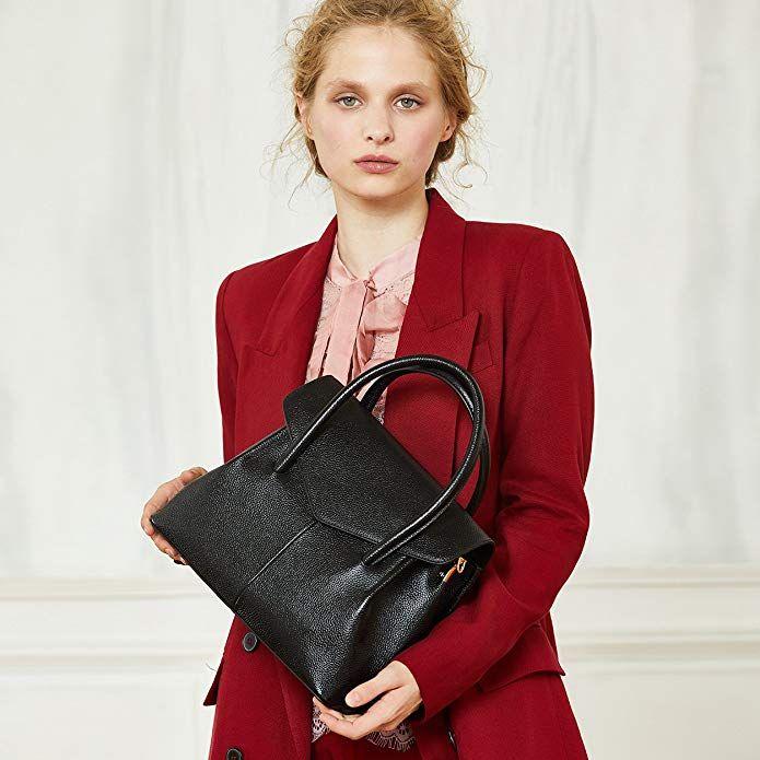 c4ba4891561e BOYATU Real Leather Handbag for Women Elegant Business Satchel Top Handle  Bag  Affordable  handbag  Leather  fashion