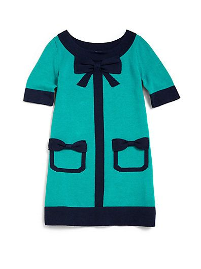 Lilly Pulitzer Kids - Toddler's & Little Girl's Kipper Colorblock Sweaterdress - Saks.com #kids #fashion