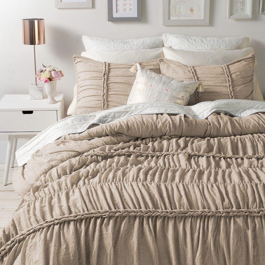 Lc Lauren Conrad Braided Comforter Set Comforter Sets Bed Lauren Conrad Bedding