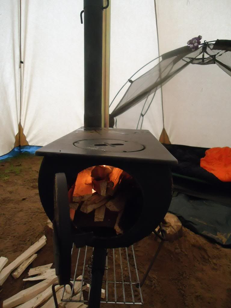 The Frontier Stove is a wood-burning tent heater for canvas or poly cotton tents that can take a flue. Lightweight portable design thatu0027s ideal for c&ing. & Frontier Stove - A portable wood-burning stove for camping ...