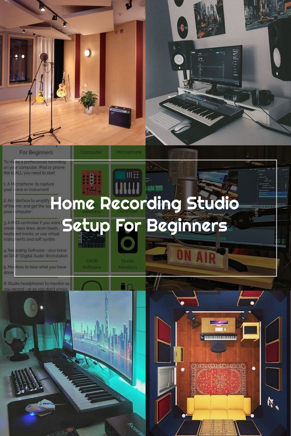 how to set up a recording studio business