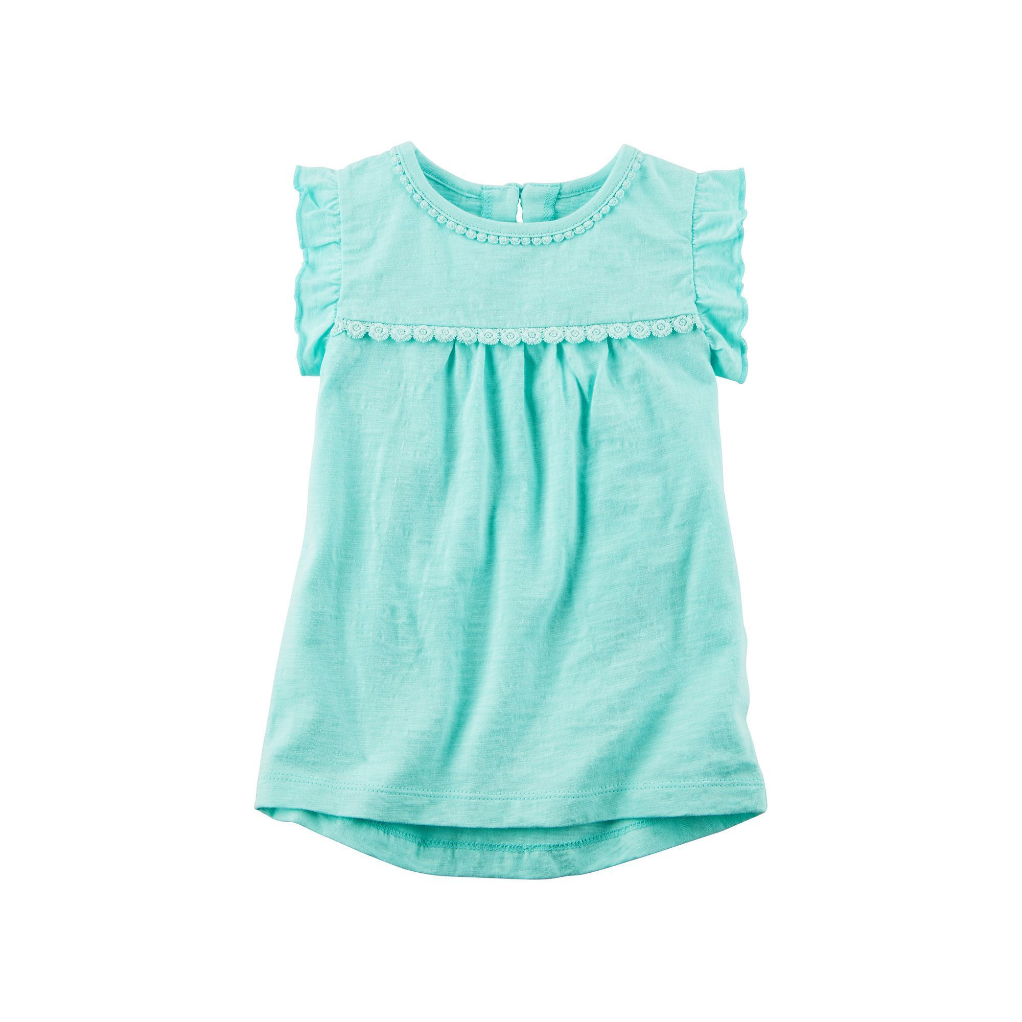 Carter s Baby Girl Lace Slubbed High Low Hem Top