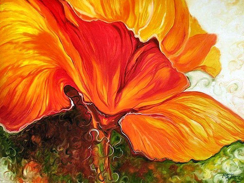 poppy flower painting famous