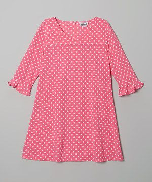 Another great find on #zulily! Pink Polka Dot Swing Dress by Igloo Island #zulilyfinds